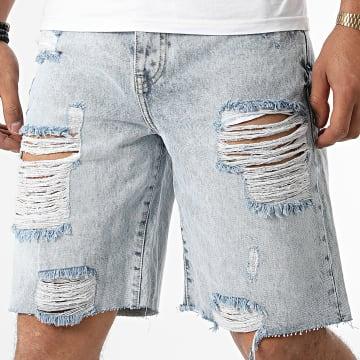 GRJ Denim - Short Jean 14927 Bleu Wash