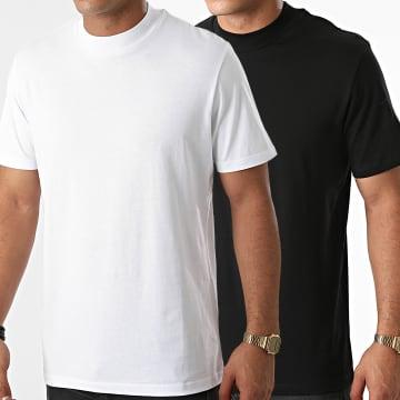 Jack And Jones - Lot De 2 Tee Shirts Basic 12183834 Blanc Noir
