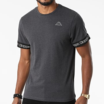 Kappa - Tee Shirt Logo Itop 321646W Gris Anthracite Chiné