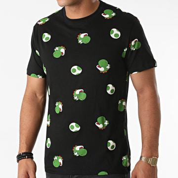 Super Mario - Tee Shirt All Over Print Yoshi Noir