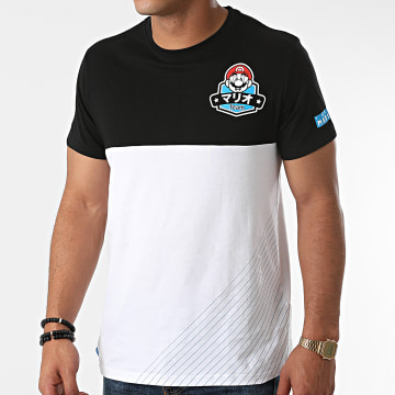 Super Mario - Tee Shirt Team Mario Blanc Noir