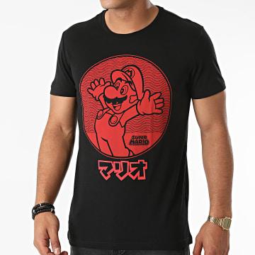 Super Mario - Tee Shirt Jumping Mario Noir