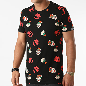 Super Mario - Tee Shirt All Over Print Bowser Noir