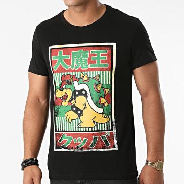 Super Mario - Tee Shirt Bowser Kanji Noir