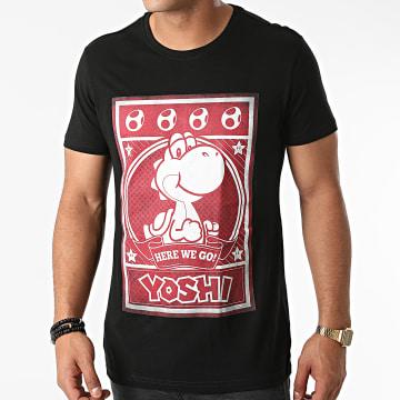 Super Mario - Tee Shirt Yoshi Poster Noir