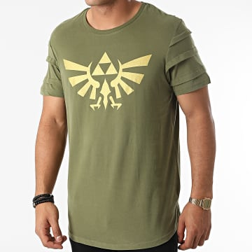 Zelda - Tee Shirt Oversize Hyrule Pintuck Vert Kaki