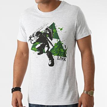 Zelda - Tee Shirt Splatter Triforce Blanc