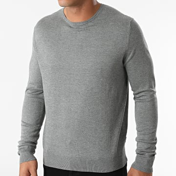 Only And Sons - Pull Wyler Life Gris Chiné