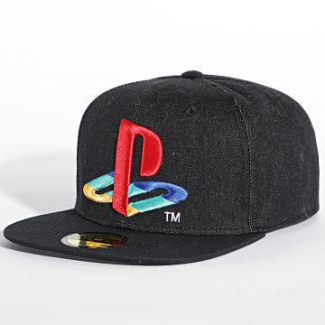 Playstation - Casquette Snapback Logo Gris Anthracite