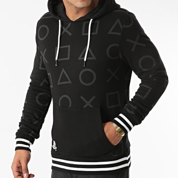 Playstation - Sweat Capuche All Over Print Noir