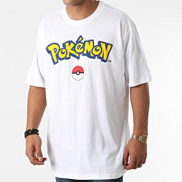 Pokémon - Tee Shirt Oversize Logo Core Blanc