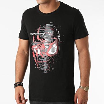 Spiderman - Tee Shirt Miles Morales Spider Head Noir