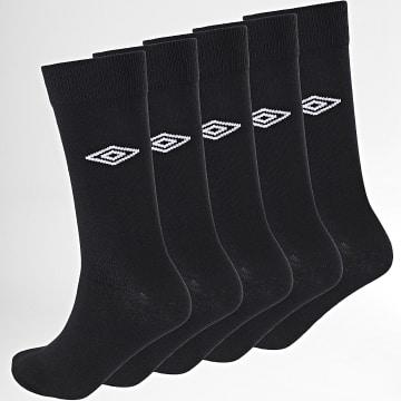 Umbro - Lot De 5 Paires De Chaussettes UMB-1-CV-NR Noir