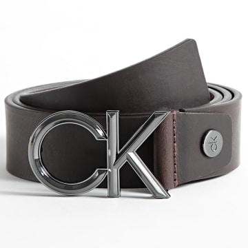 Calvin Klein - Ceinture Adjustable Spiked Metal 7521 Marron