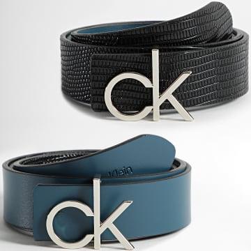 Calvin Klein - Ceinture Réversible Femme Re-Lock 8649 Noir Bleu