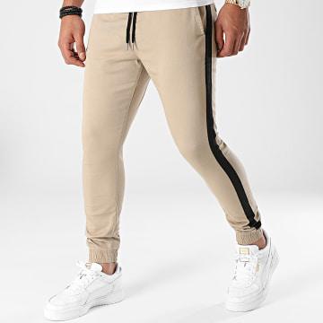 LBO - Jogger Pant Super Skinny A Bandes 1915 Beige