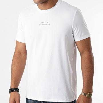 Armani Exchange - Tee Shirt 6KZTAB-ZJ5ZZ Ecru Argenté
