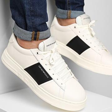 Emporio Armani - Baskets X4X287-XN010 Off White Black Off White
