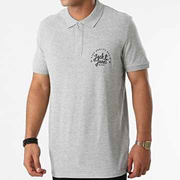 Jack And Jones - Polo Manches Courtes Kimbel Gris Chiné
