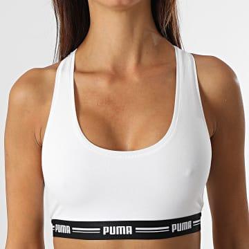 Puma - Brassière Femme Racerback Blanc