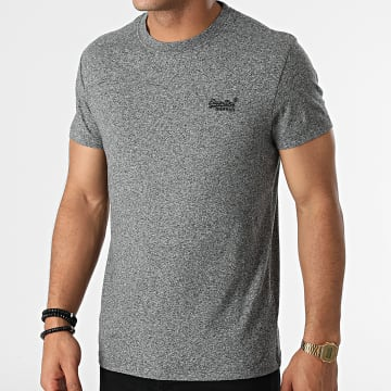 Superdry - Tee Shirt Vintage Logo Embroidery M1011245A Gris Chiné