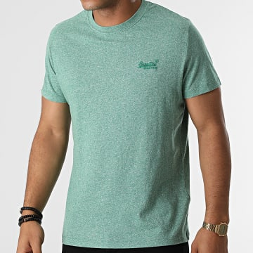 Superdry - Tee Shirt Vintage Logo Embroidery M1011245A Vert Chiné