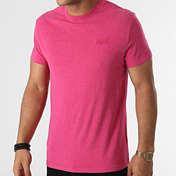 Superdry - Tee Shirt Vintage Logo Embroidery M1011245A Rose Chiné