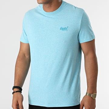 Superdry - Tee Shirt Vintage Logo Embroidery M1011245A Bleu Clair Chiné
