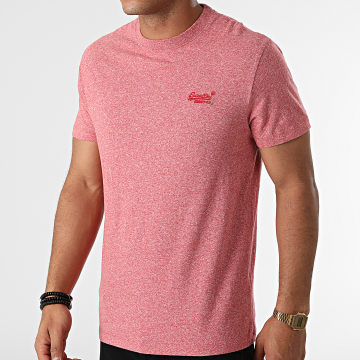 Superdry - Tee Shirt Vintage Logo Embroidery M1011245A Rouge Chiné