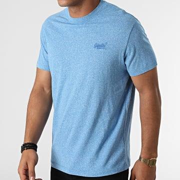 Superdry - Tee Shirt Vintage Logo Embroidery M1011245A Bleu Chiné