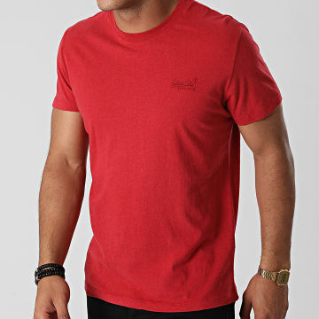 Superdry - Tee Shirt Vintage Logo Embroidery M1011245A Rouge