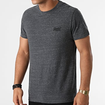 Superdry - Tee Shirt Vintage Logo Embroidery M1011245A Gris Anthracite Chiné