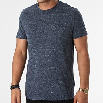 Superdry - Tee Shirt Vintage Logo Embroidery M1011245A Bleu Marine Chiné