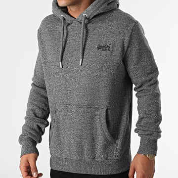Superdry - Sweat Capuche Vintage Logo Embroidery 1399 Gris Anthracite Chiné