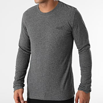 Superdry - Tee Shirt Manches Longues Vintage Logo Embroidery M6010550A Gris Anthracite Chiné