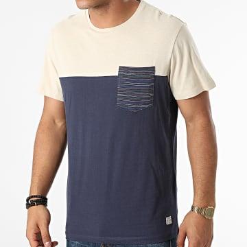 Blend - Tee Shirt Poche 20712440 Bleu Marine Beige