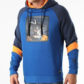 Capslab - Sweat Capuche Goku Bleu Marine Orange