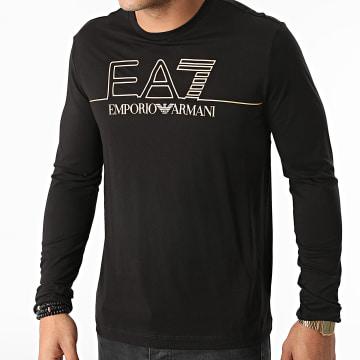 EA7 Emporio Armani - Tee Shirt Manches Longues 6KPT31-PJM9Z Noir Doré