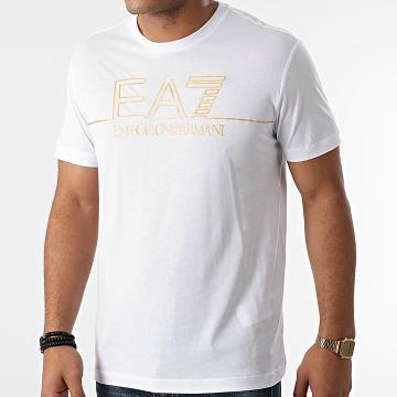 EA7 Emporio Armani - Tee Shirt 6KPT19-PJM9Z Blanc Doré
