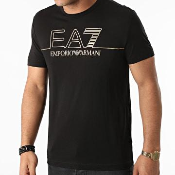EA7 Emporio Armani - Tee Shirt 6KPT19-PJM9Z Noir Doré