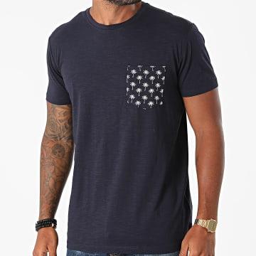 Esprit - Tee Shirt Poche 050CC2K321 Bleu Marine Floral