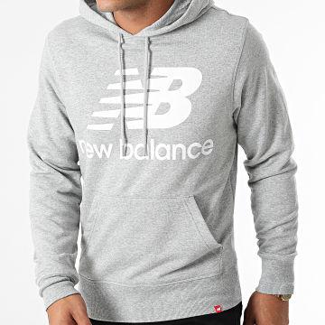 New Balance - Sweat Capuche MT03558 Gris Chiné