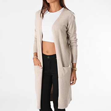 Only - Cardigan Femme Marco Beige Chiné