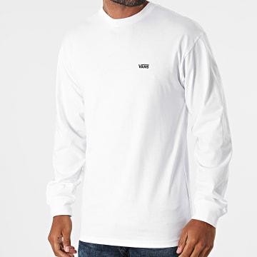 Vans - Tee Shirt Manches Longues Left Chest Hit A49LC Blanc