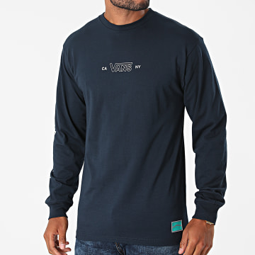 Vans - Tee Shirt Manches Longues Sequence A5FQP Bleu Marine