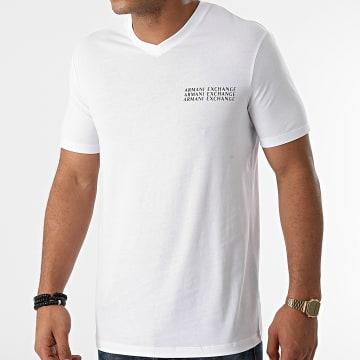 Armani Exchange - Tee Shirt Col V 6KZTGX-ZJBVZ Blanc