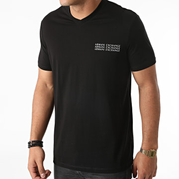 Armani Exchange - Tee Shirt Col V 6KZTGX-ZJBVZ Noir