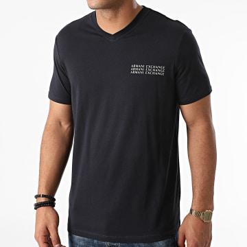 Armani Exchange - Tee Shirt Col V 6KZTGX-ZJBVZ Bleu Marine