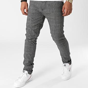 Blend - Pantalon A Carreaux 20713189 Gris Anthracite Chiné