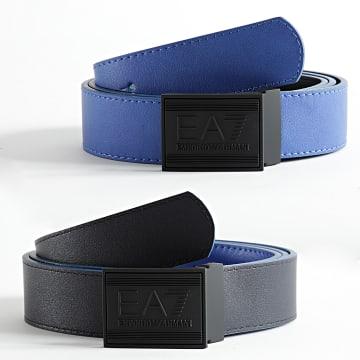EA7 Emporio Armani - Ceinture Réversible 245376-8A693 Bleu Roi Bleu Marine